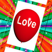 Love Balloon Shows Fondness and Affectionate Feeling — Foto Stock
