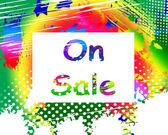 On Sale Phone Screen Promotional Savings Or Discounts — Foto de Stock