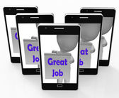 Great Job Phone Means Well Done And Praise — Photo