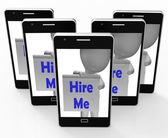 Hire Me Sign Means Job Applicant Or Freelancer — Stockfoto