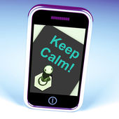 Keep Calm Switch Shows Keeping Calmness Tranquil And Relaxed — Stock Photo