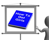 How To Get Girls Book Sign Shows Improved Score With Chicks — Stock Photo