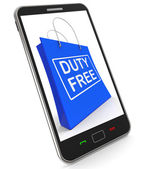Duty Free on Shopping Bags Shows Tax Free Purchases — Stock Photo