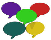 Blank Speech Balloon Shows Copy space For Thought Chat Or Idea — Stock Photo