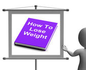 How To Lose Weight Sign Shows Weight loss Diet Advice — Stockfoto