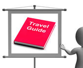 Travel Guide Sign Shows Information About Travels — Stockfoto