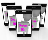 Dream Big Sign Shows Aiming High And Ambitious — Stock Photo