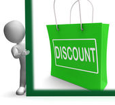 Discount Shopping Sign Means Cut Price Or Reduce — Stock Photo