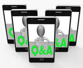 Q&A Blackboard Shows Inquiries Responses And Information — Stock Photo