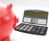 ROI Calculator Shows Investment Return Or Profitability — Stock Photo