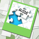 Guide Photo Means Web Instructions And Help — Stock Photo