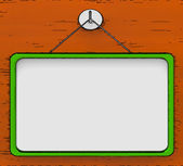 Blank Noticeboard Copy space Shows Display Space — Stock Photo