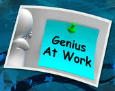 Genius At Work Means Do Not Disturb Me — Stock Photo