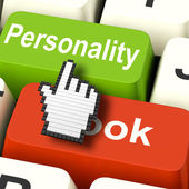 Personality Looks Keys Shows Character Or Superficial Online — Stock Photo
