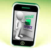 Offense Defence Switch Shows Attack Or Defend — Stock Photo
