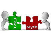 Fact Myth Puzzle Shows Fact Or Mythology — Stock Photo