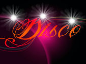 Groovy Discos Means Dancing Party And Music — Stock Photo