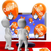 Celebrate Balloons Mean Parties and Celebrations Internet — Stock Photo