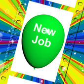 New Job Balloon Shows New Beginnings in Career — Stockfoto