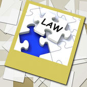 Law Photo Shows Legal Information And Legislation On Internet — Stock Photo