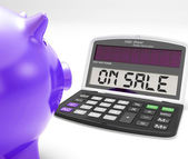 On Sale Calculator Shows Price Cut And Saving — Stock Photo