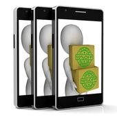 Ten Percent Off Phone Show 10 Lower Price — Stok fotoğraf
