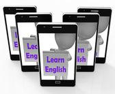 Ucz się angielskiego esol lub znak wskazuje drugi język — Zdjęcie stockowe
