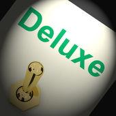 Deluxe Switch Shows Great Premium Luxurious Luxury — Stock Photo