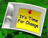 é hora de mudança foto: rever reset ou transformar — Fotografia Stock