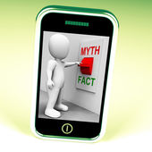 Fact Myth Switch Shows Facts Or Mythology — Foto de Stock