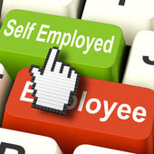 Self Employed Computer Means Choose Career Job Choice — Stock Photo