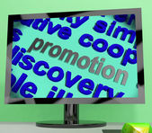 Promotion Word Means Advertising Campaign Or Special Deal — Stock Photo