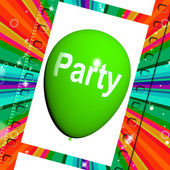 Party Balloon Represents Parties Events and Celebration — Stok fotoğraf