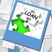 Loan Photo Shows Online Financing And Lending — Stock Photo