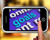 Goals In Word Cloud Shows Aims Objectives Or Aspirations — Stock Photo