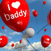 I Love Daddy Balloons Shows Affectionate Feelings for Dad — Stock Photo