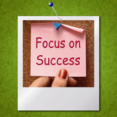 Focus On Success Photo Shows Achieving Goals — Stock Photo