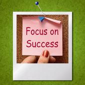 Focus On Success Photo Shows Achieving Goals — Stock Photo
