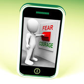 Courage Fear Switch Shows Afraid Or Bold — Stock Photo