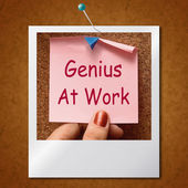 Genius At Work Note Means Do Not Disturb — Stock Photo
