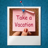 Take A Vacation Photo Means Time For Holiday — Stock Photo