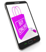 Buy Online Phone Shows Internet Availability for Buying and Sale — Stock Photo
