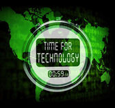 Technology Watch Touch Screen Shows Innovation Improvement Or Hi — Stock Photo