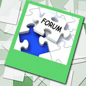 Forum Photo Means Online Networks And Chat — Stock Photo