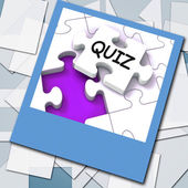 Quiz Photo Means Online Exam Or Challenge Questions — Stock Photo