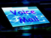 Voice Mail On Screen Shows Talk To Leave Message — Stok fotoğraf