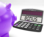 Bonus Calculator Shows Perks Extra Or Incentive — Stock Photo