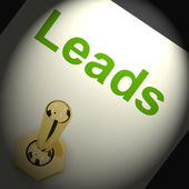 Leads Switch Means Lead Generation Or Sales — Stock Photo