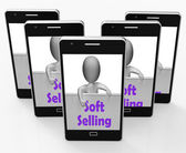 Soft Selling Phone Shows Friendly Sales Technique — Stock Photo