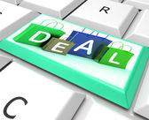 Deal On Computer Key Shows Bargains And Promotions — Stock Photo